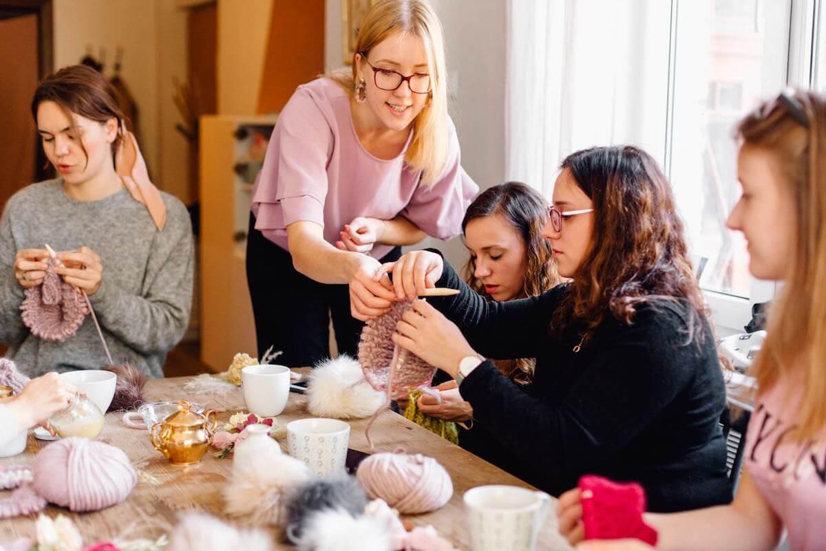 Warsztaty dziewiarskie Kurs robienia na drutach Powloczeni